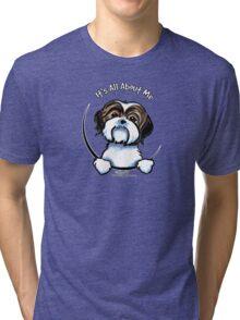 Brown/White Shih Tzu :: It's All About Me Tri-blend T-Shirt