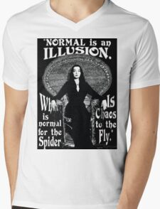 """Morticia Addams-""""Normal Is An Illusion..."""" Mens V-Neck T-Shirt"""