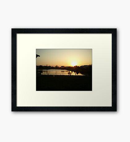 Sunset Over Willow Lake Framed Print