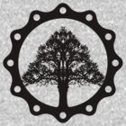 Tree of Life circle, black style by Colorsark
