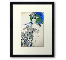 The pride of the peacock Framed Print