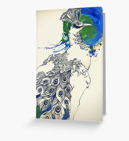 The pride of the peacock Greeting Card