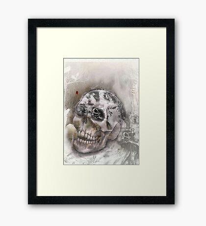 skull oldtimer Framed Print