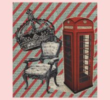 retro jubilee victorian chair london telephone booth One Piece - Short Sleeve