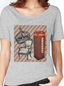 retro jubilee victorian chair london telephone booth Women's Relaxed Fit T-Shirt
