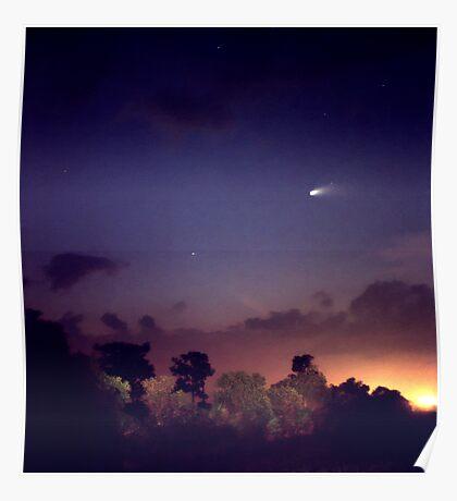 Comet Hale-Bopp. Lake Cypress. Poster