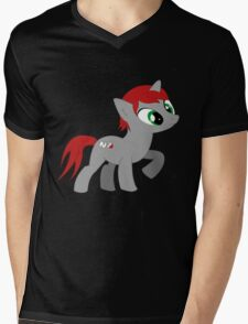 Commander She-pony Mens V-Neck T-Shirt