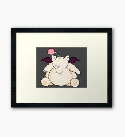 A Snoring Moogle Framed Print