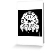 The Gentlemen Clocktower Greeting Card