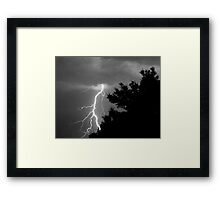 Cloud to Ground Discharge #1 Framed Print