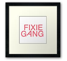 Fixie Gang - pink Framed Print