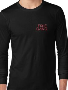 Fixie Gang - pink Long Sleeve T-Shirt