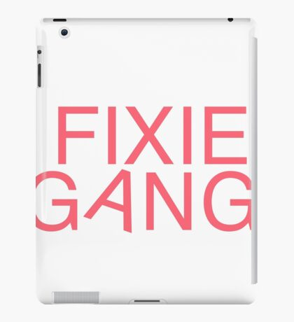 Fixie Gang - pink iPad Case/Skin