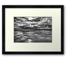 Beach storm Framed Print