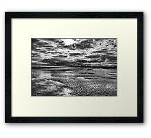 Beach storm Framed Print