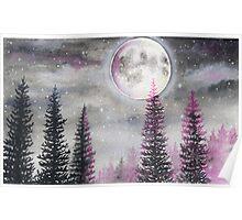 Magical Moon - Watercolor  Poster