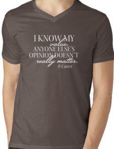 I Know My Value Mens V-Neck T-Shirt