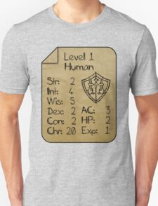 Level 1 - Human [only for Nerd Babies] Unisex T-Shirt