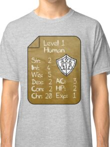 Level 1 - Human [only for Nerd Babies] -Original Colors Classic T-Shirt