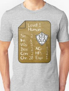 Level 1 - Human [only for Nerd Babies] -Original Colors Unisex T-Shirt