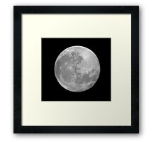 Full Moon. Framed Print