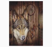 western country native dream catcher wolf art Kids Clothes