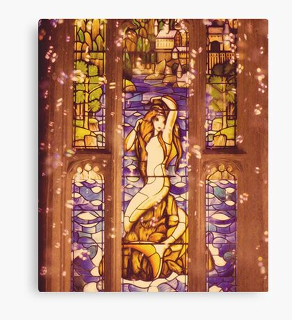 Mermaid Stain Glass Window Canvas Print