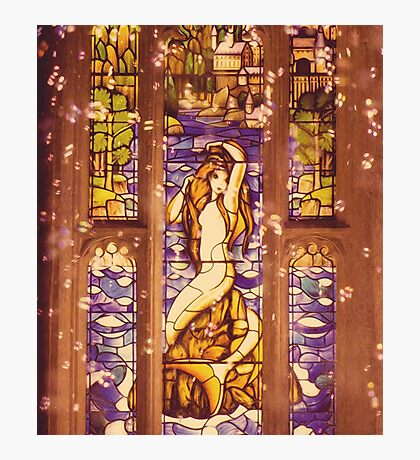 Mermaid Stain Glass Window Photographic Print