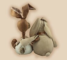 Two hugging toy bunnies by VikaL
