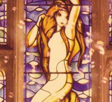 Mermaid Stain Glass Window Sticker