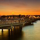 Sunset Pier by Yelena Rozov
