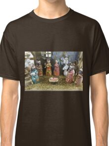 Christmas nativity scene  Classic T-Shirt