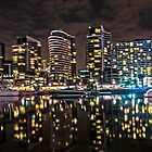 Melbourne&#x27;s Docklands Harbour by Night by PhotoJoJo