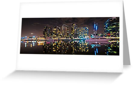 Melbourne's Docklands Harbour by Night by PhotoJoJo