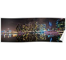 Melbourne's Docklands Harbour by Night Poster
