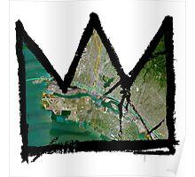 "Basquiat ""King of Oakland Berkeley California"" Poster"