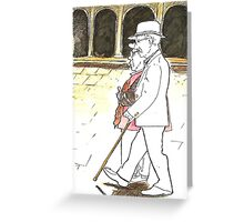 Postcard from Europe - older couple in St Marks Greeting Card