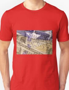 Double exposure finance and government concept Unisex T-Shirt
