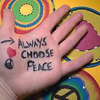 Always choose Peace Original color Photograph by Jeanine Molnar
