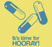 Hooray pills - cyan - funny graphic by moonshine and lollipops