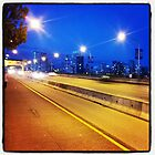 Burrard Street Bridge at dusk by RubyTuesday72