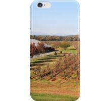 Vineyard fields in the fall iPhone Case/Skin