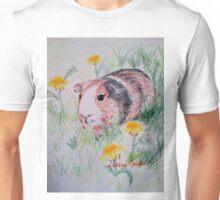 Guinea Pig in the Dandelions Unisex T-Shirt