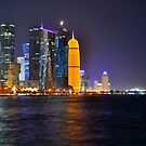 Doha - Rainbow skyline by emmawind