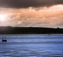 youghal boats at dusk by morrbyte