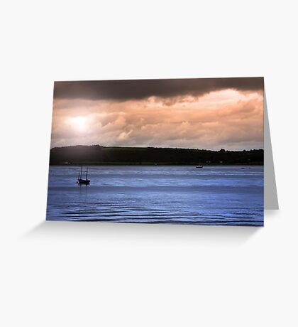 youghal boats at dusk Greeting Card