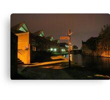 Canal and Tesco, Kidderminster Canvas Print
