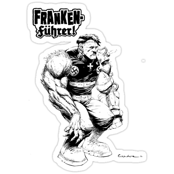 Franken Fuhrer (Black Outline) by capebillowing