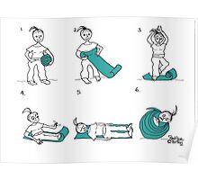 yoga mat Poster