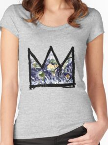 """Basquiat, """"King of The world"""" Women's Fitted Scoop T-Shirt"""